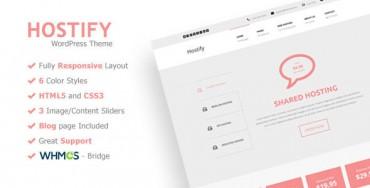 Hostify – Responsive WordPress Hosting Theme