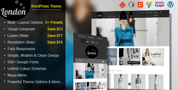 London Stars – Responsive WooCommerce Theme