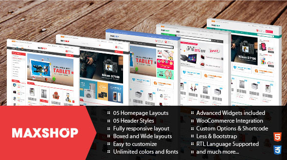 Maxshop v2.0.2 – Responsive WordPress WooCommerce Theme