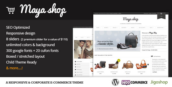 MayaShop v2.9.3 – A Flexible Responsive e-Commerce Theme