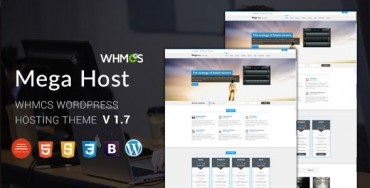 Megahost v1.7 – Hosting WordPress Theme with WHMCS