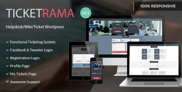 Ticketrama v2.0 – WordPress Helpdesk | Ticket | Support
