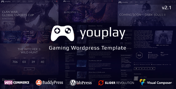 Youplay v2.0.2 – Gaming WordPress Theme